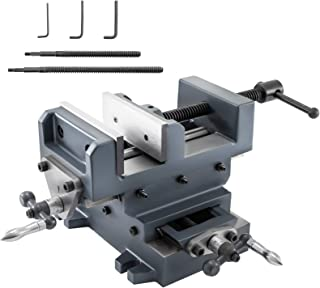 Mophorn 6 inch X-Y Compound Cross Slide Vise Drill Press Metal Milling With Free Double Screw Rods (6 Inch)