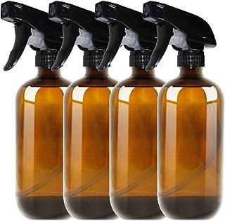 THETIS Botellas de Spray vacías de ámbar Boston de 500ml (