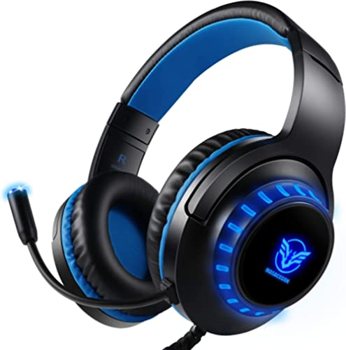 Pacrate Gaming Headset for PS4 PC Xbox One Headset with Microphone Noice Cancelling Stereo Surround Sound Headphone w...