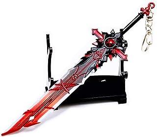 Genshin Impact Diluc Wolf's Gravestone Metal Claymore Weapon Sword Blade Keychain