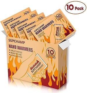 Supchamp Calentadores de Manos, 10 PCS Calentadores Desechables de Bolsillo para Manos, hasta 10 Horas de Calor, Almohadillas de Calor de Manos, para Actividades al Aire Libre en Invierno