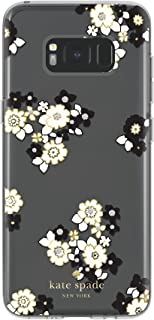 kate spade new york Protective Hardshell Case for Samsung Galaxy S8 - Floral Burst Clear/Cream/Black/Gold/Stones