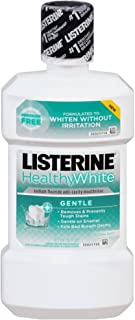 Listerine Healthy White Gentle Anticavity Mouthwash, Clean Mint 16 oz (Pack of 5)