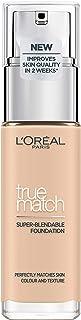 L'Oréal Paris True Match Foundation 1.N Ivory - L'Oréal Foundation met Hyaluronzuur & Natuurlijke Dekking, met SPF 17 - 30...