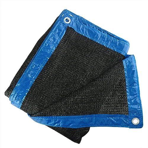 Bache Robuste résistant à l'eau Pare-Soleil UV 90% Noir Ceinture en Maille UV pour Pare-Soleil en Tissu Pare-Soleil 2M X 3M pour la Tente imperméable de Camouflage de Toit de