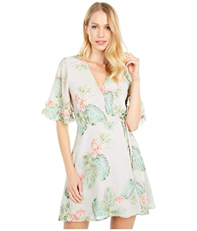 LOST + WANDER Lost in Paradise Mini Dress (Taupe Tropical) Women