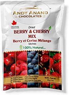 Andy Anand Chocolates- Premium Dried Berry & Cherry Mix Organic & Preservative Free, Pure fresh dry fruits- Sweet and Tangy Berry. (Pack of 2 – 3 oz.).