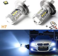 Xotic Tech Ice Blue 80W Error Free H7 LED Kit with Decoder for BMW E46 3 DRL Daytime Running Light