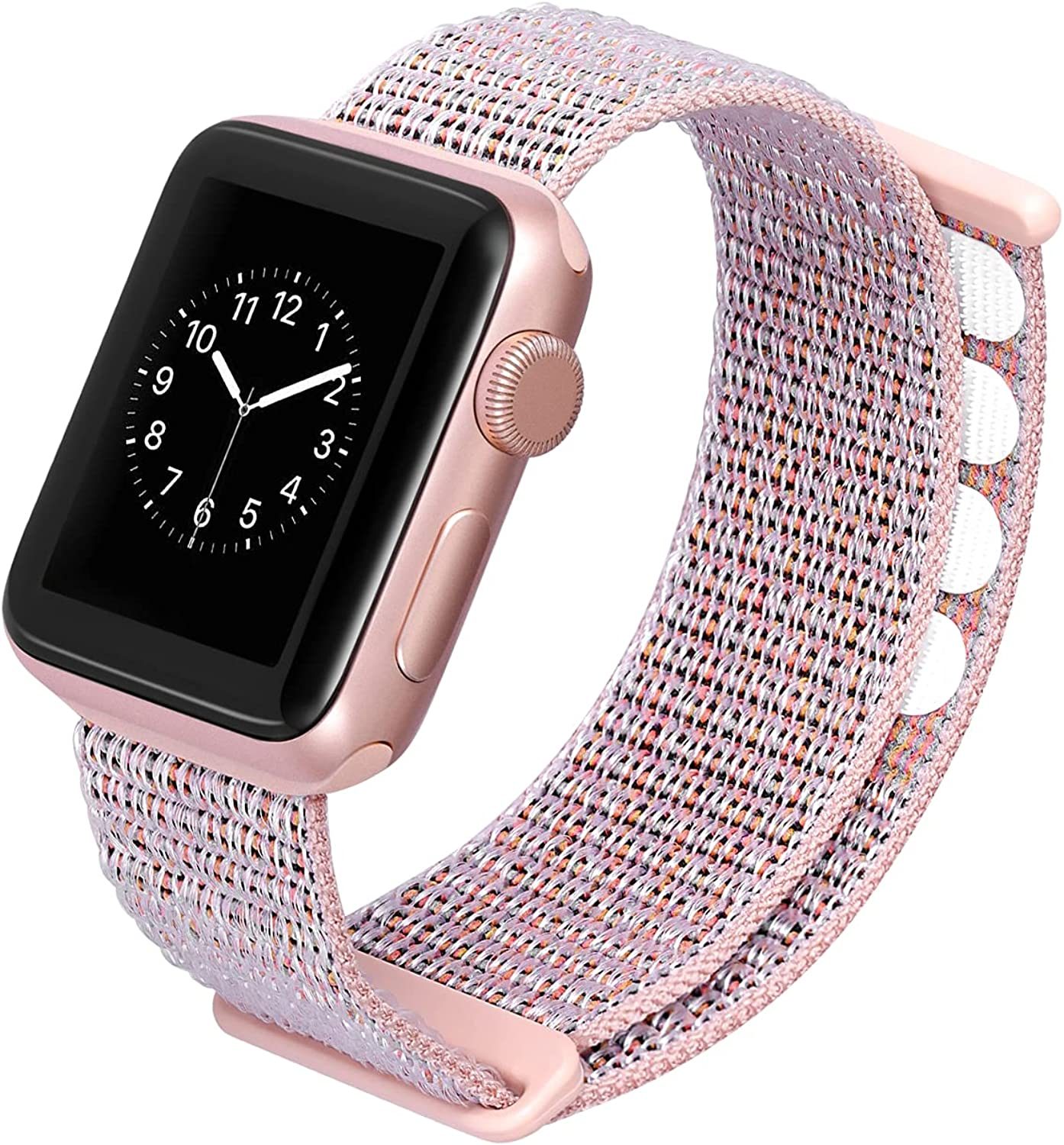 Blueauty Sport Loop Stretchy Strap Compatible with Apple Watch Bands 38mm 40mm 42mm 44mm,Nylon Braided Adjustable Replacement Wristbands for Women Men for iwatch Series SE 6 5 4 3 2 1