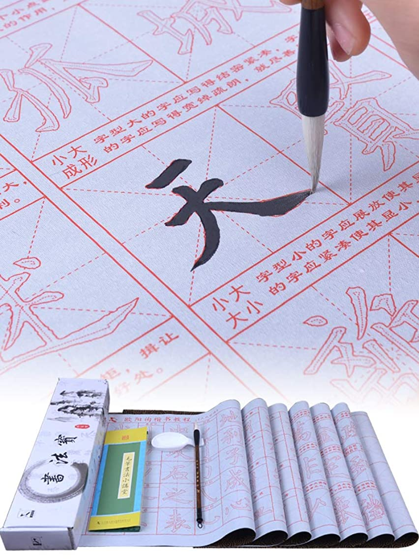 Tianjintang Eco-Friendly No Ink Chinese Calligraphy Set for Beginners Pack of 10pcs 70cmx32cm Ouyang Xun Style