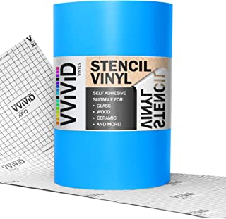 VViViD Low-Tack Blue Self-Adhesive Vinyl Stencil Masking Film 72 Inch by 12 Inch Roll