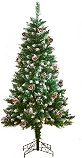 クリスマスツリー 松かさスノータイプ 150cm 雪が積もったような雰囲気 スノー クリスマスツリー 松ぼっくり付き 北欧風 TGOOD (150cm)