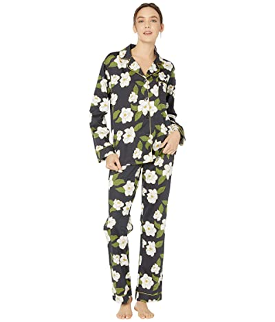 BedHead Pajamas Long Sleeve Classic Notch Collar Pajama Set (Magnolia) Women
