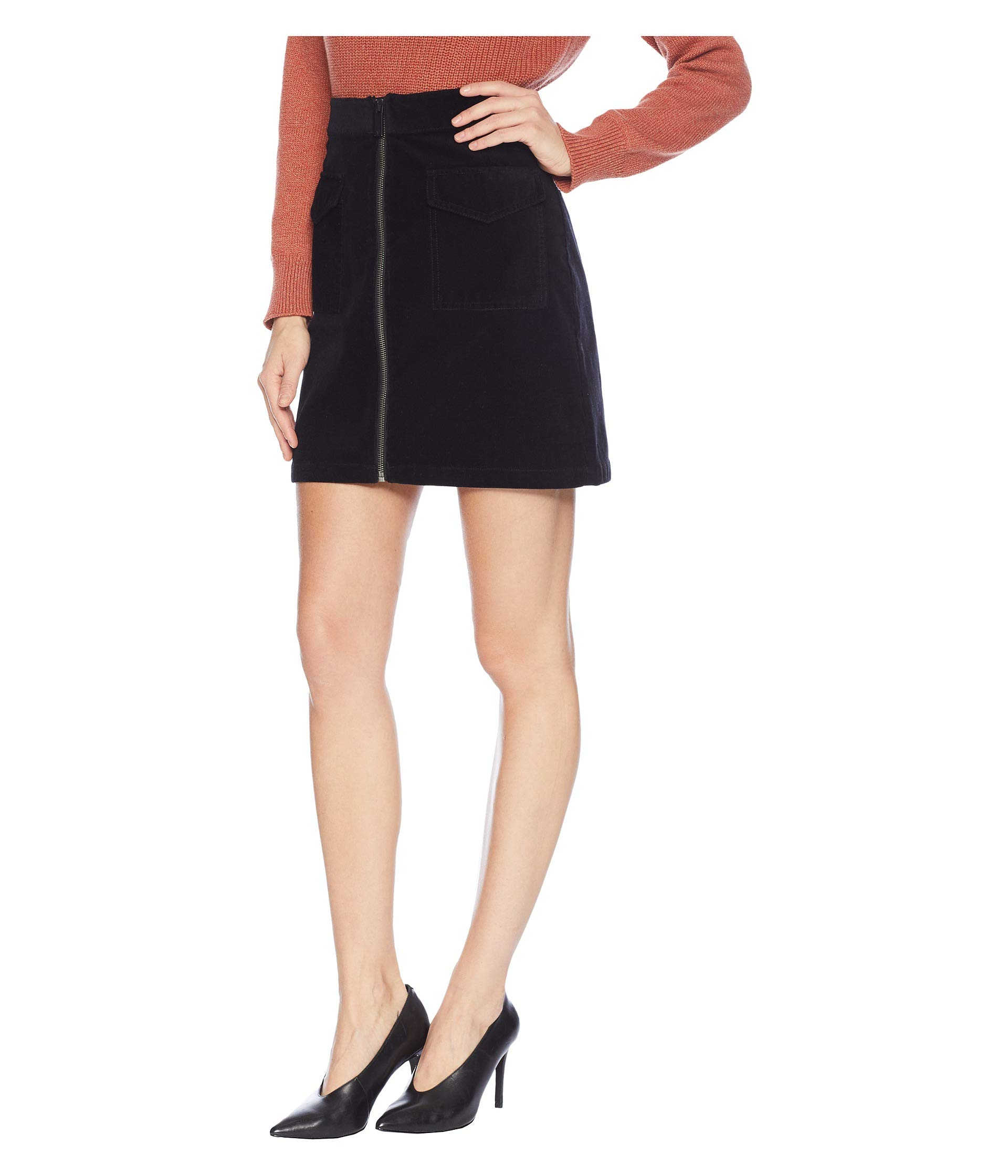 Zip Two Black pocket Rich Corduroy By Washed Two Vince Camuto Skirt qXxRqH0