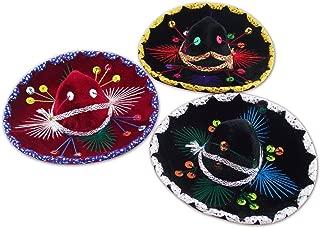 Decorative Mini Charro Sombrero, Mexican Mariachi hat - Set of 3 (6