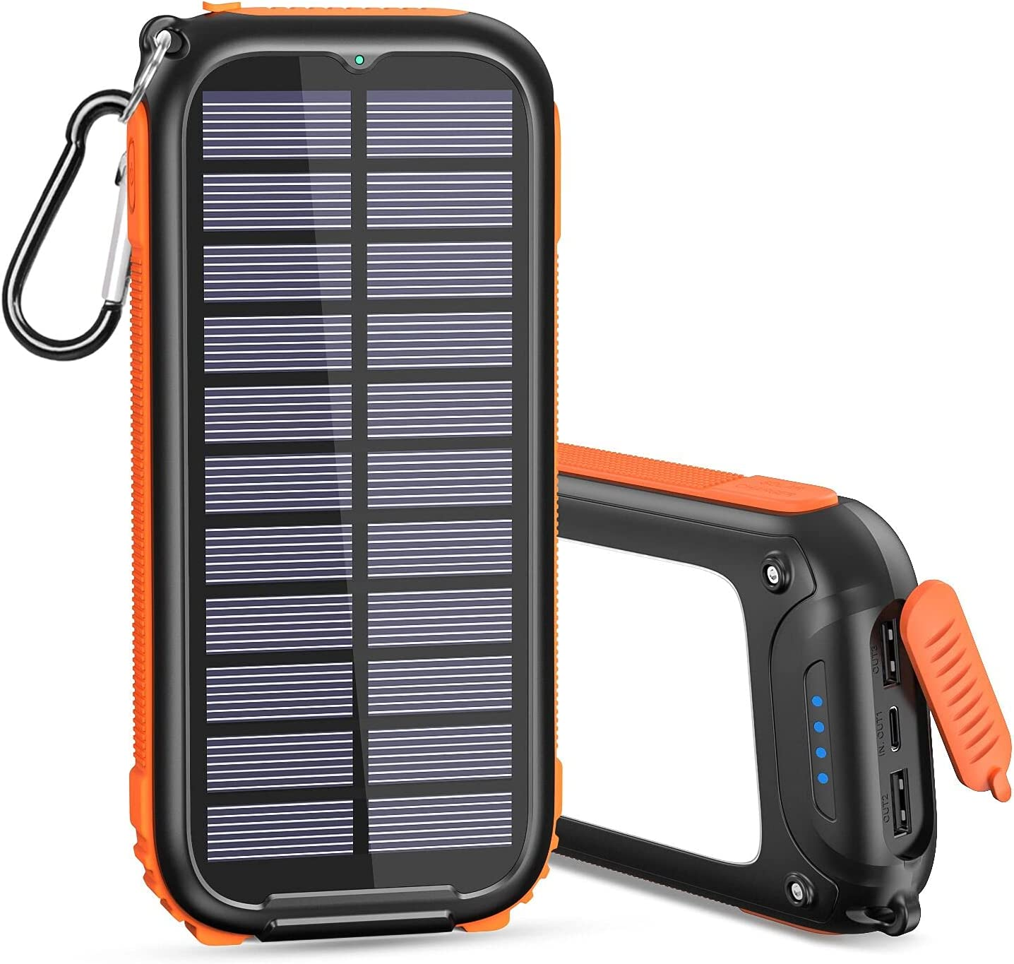 Solar Charger 26800mAh Power Bank Portable Battery Charger, Orange