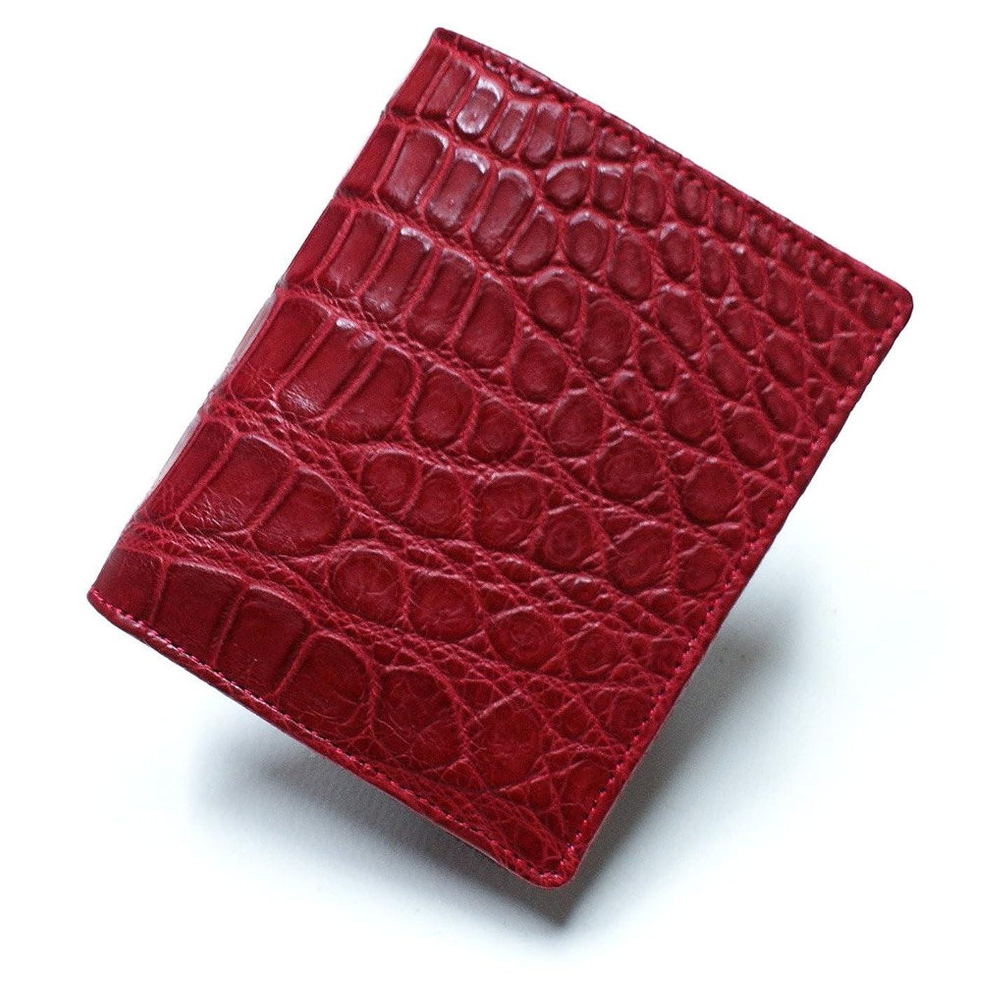 説明するより平らな伝導率CRM1004-RED クロコダイル財布「無双仕様」?ボックス小銭入れ付:コチニールレッド