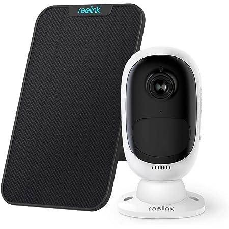 Reolink Argus 2 avec Panneau Solaire HD 1080P WiFi Caméra Surveillance sur Batterie Rechargeable Caméra Solaire Caméra IP Extérieure Couleur Capteur Starlight PIR avec Fente SD Carte Support 64GO