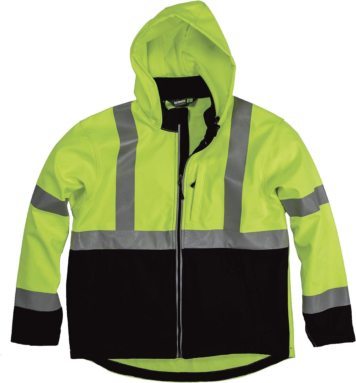 Berne Men's Hi-Vis Class 3 Hooded Softshell Jacket