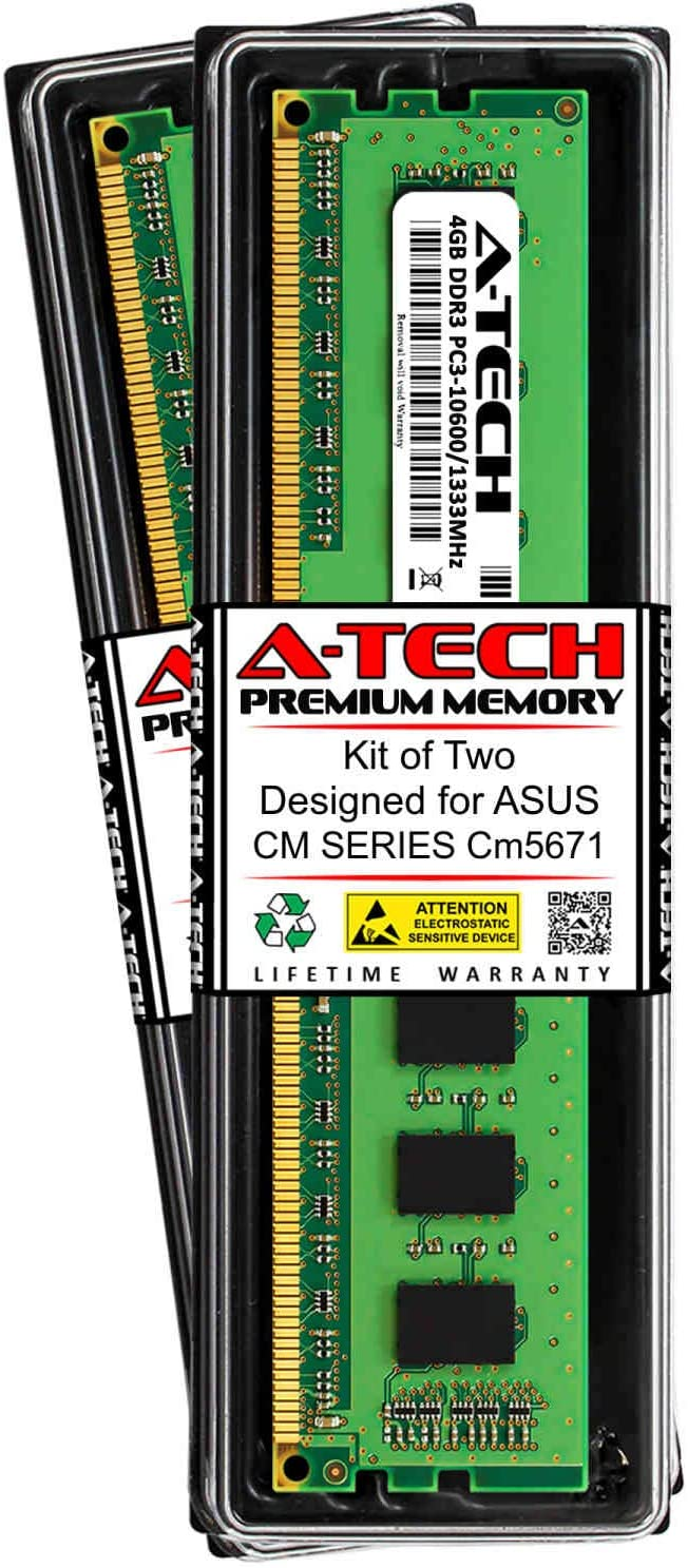 A-Tech 8GB 2 Time sale x Save money 4GB RAM for DDR3 cm ASUS Series 1333MH CM5671