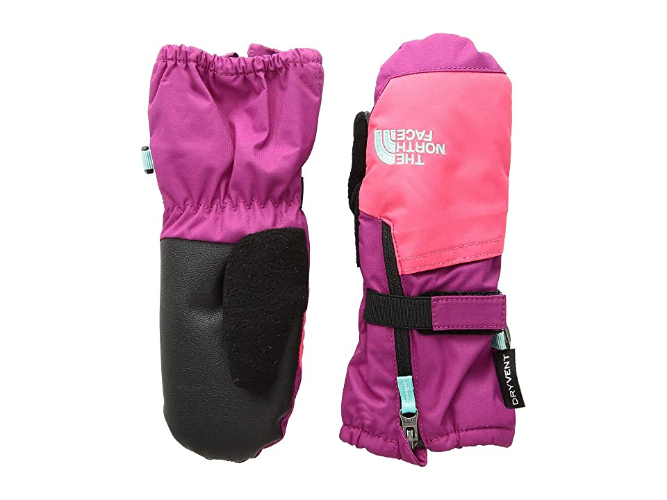 The North Face Kids Toddler Mitt (Infant/Toddler) (Dramatic Plum/Azalea Pink) Extreme Cold Weather Gloves