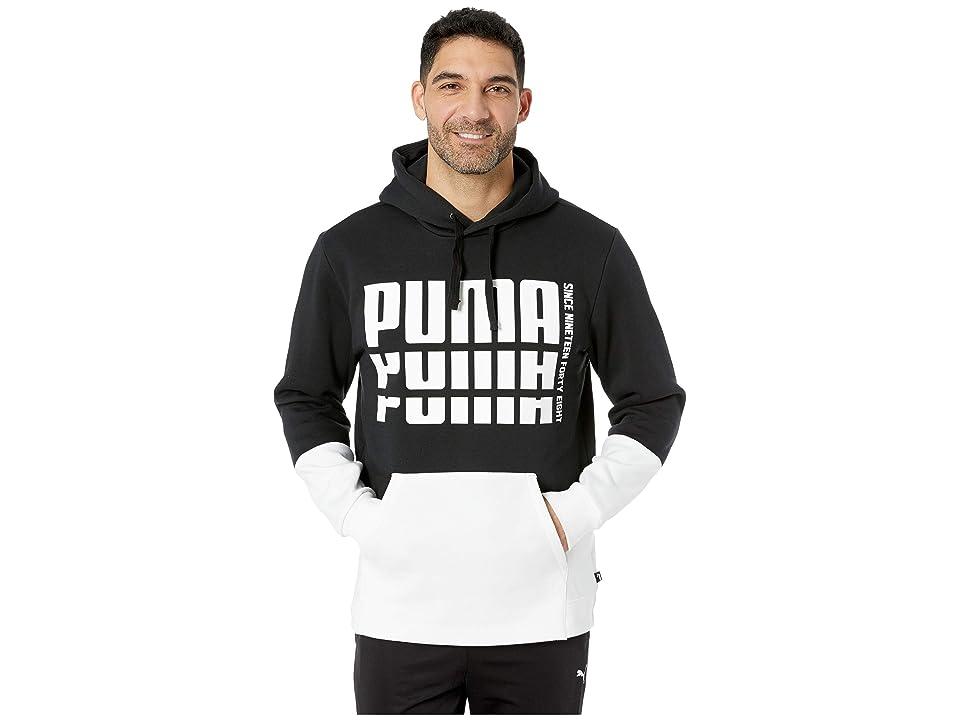 PUMA Rebel Up Hoodie Fleece (Cotton Black) Men