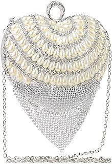 Women's Evening Clutch,VEYIINA NERO Elegant Handbag Shoulder Bag Luxurious Rhinestone Handbag For Wedding Party Banque