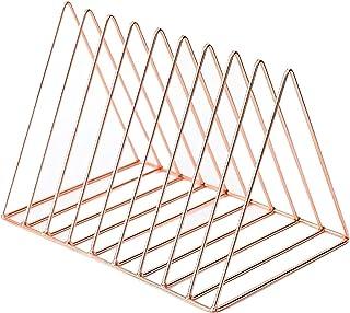 Nai-storage Carpeta de Escritorio Organizador Estantería de Hierro de Metal, Estante de Almacenamiento de Discos de Vinilo...