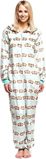 Women's Body Candy Adult Onesie Hooded Huggable Plush One Piece Pajama Fox Large