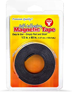 Hygloss Products, Inc. Magnetic Tape, Self- Adhesive, 1/2-Inch x 60-Inch