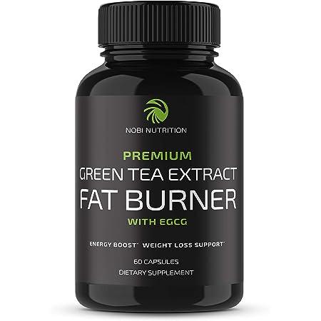 Nobi Nutrition Green Tea Fat Burner - Weight Loss Diet Pills & Appetite Suppressant - Vegan Green Tea Extract with EGCG & Caffeine