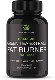 Nobi Nutrition Green Tea Fat Burner - Green Tea Extract Supplement with EGCG - Diet Pills, Appetite Suppressant, Metabolis...
