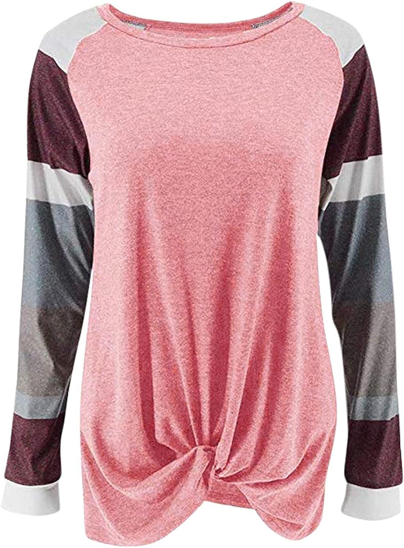 UQGHQO T Max 49% OFF Shirts for Women Womens Long Knot Tops Pul Sale Sleeve Twist