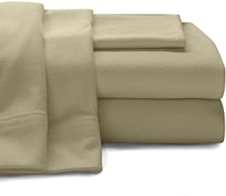 """Twin XL 100% Micro Fiber Taupe 3 PC Sheet Set - Soft and Comfy - Twin Extra Long, 15"""" Deep Pocket, 39"""" x 80"""" Great for Dor..."""