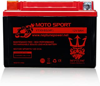 YTX9-BS High Performance Battery for Kawasaki ZX600-G, J Ninja ZX-6R/ZZR 98-08 by Neptune