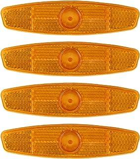 Hybride pour v/élo Blanc Orange JCstarrie Lot de 4 r/éflecteurs de Rayons pour Roue de v/élo sur Route Montagne
