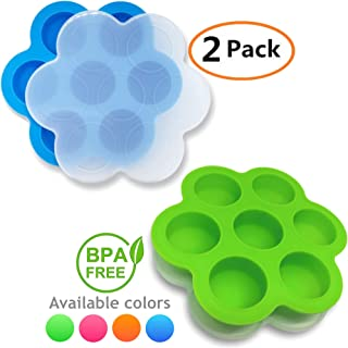 GOKCEN's Silicone Egg Bites Molds For Instant Pot Accessories - Fit Instant Pot 5,6,8 qt Pressure Cooker - Baby Food Freezer Tray with Lid - Reusable Storage Container - 2 Pack