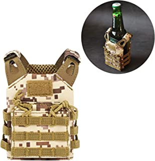 SINAIRSOFT New Tactical Beer Vest Koozie JPC Mini Molle Vests Beverage Cooler Holder Adjustable for 12oz or 16oz Cans or Bottles