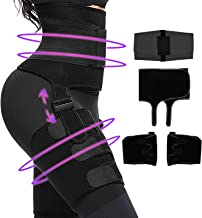 FITTEST Waist Trainer, 3 in 1 Thigh Trimmer for Women Weight Loss, High Waist Slimmer Booty Hip Enhancer