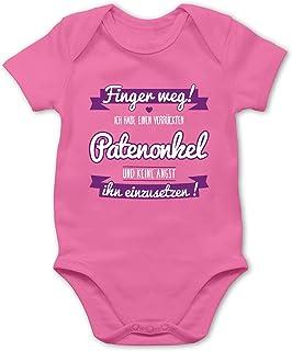 Shirtracer Sprüche Baby - Ich Habe einen verrückten Patenonkel lila - Baby Body Kurzarm für Jungen und Mädchen