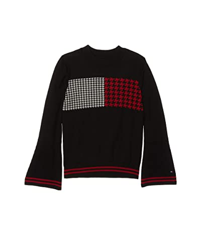 Tommy Hilfiger Kids TH Flag Sweater (Big Kids) (Moonless Night) Girl