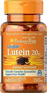 Puritan's Pride Lutein 20 mg with Zeaxanthin-60 Softgels