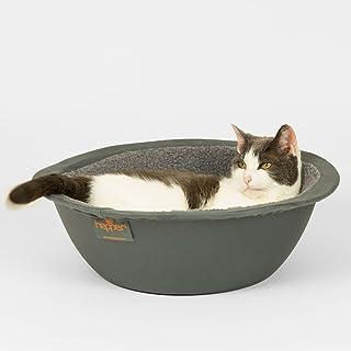 Hepper - Nest Cat Bed - Modern Cat Furniture - Cat Bowl with Removable & Washable Fleece Liner - Grey