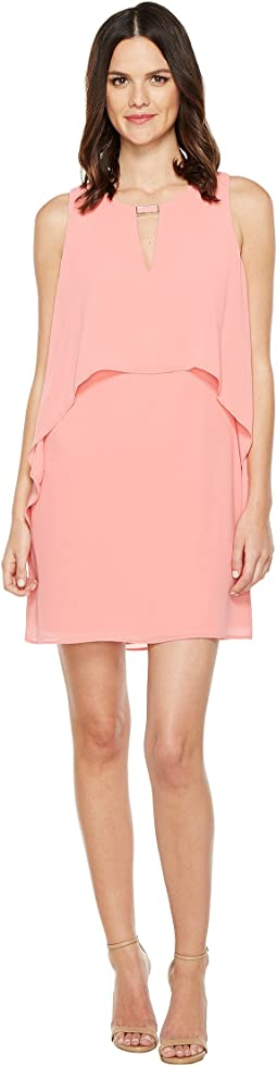 Souffle Chiffon Float Dress w/ Hardware