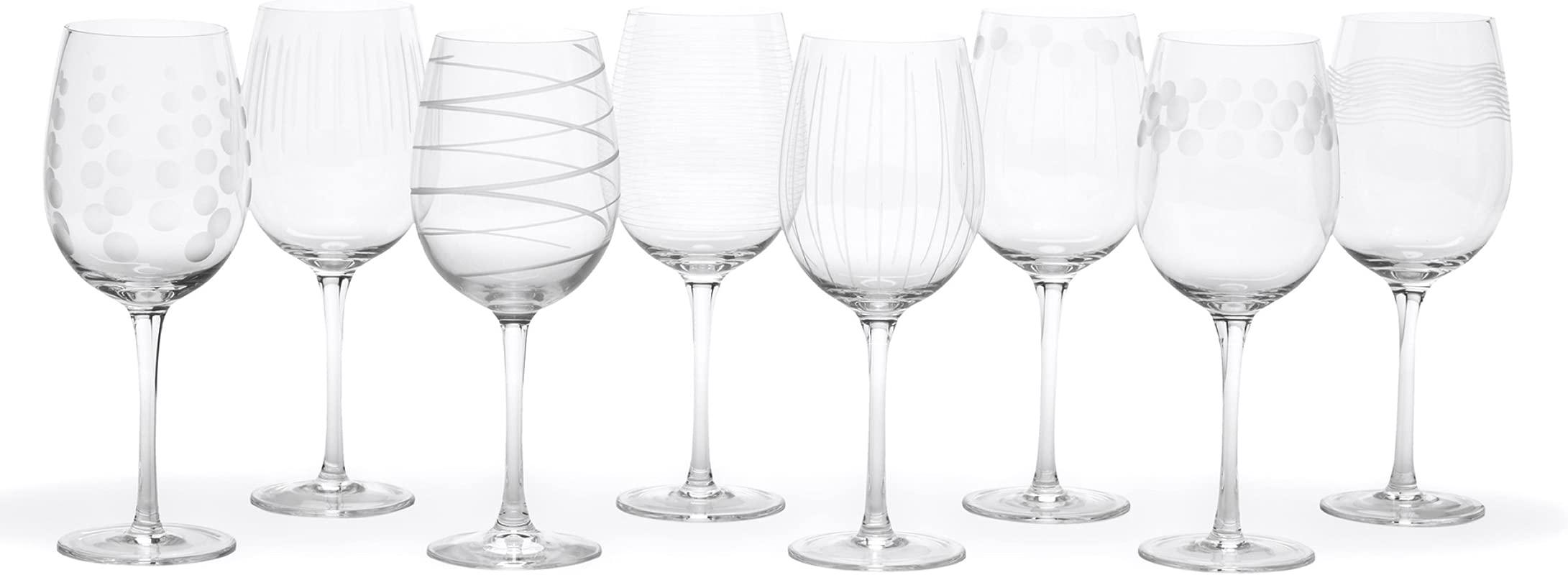 Mikasa Cheers White Wine Glasses 16 Ounce Set Of 8