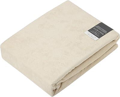東京 西川 ボックスシーツ セミダブル タオル調 厚さ35cmまでに対応 日本製 綿100% ボーテ ベージュ PTG6553017BE