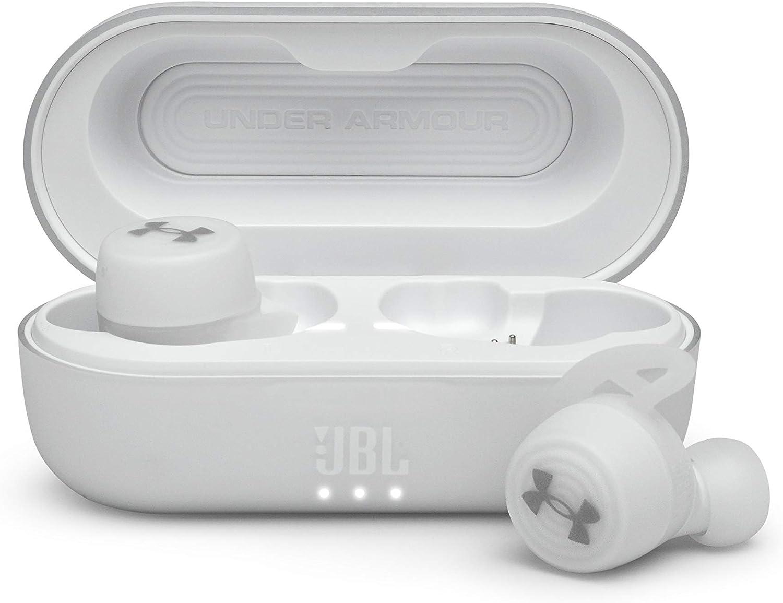 JBL Under Armour True Wireless Streak: Ultra-Compact in-Ear Sport Headphones - White (UAJBLSTREAKWHTAM)