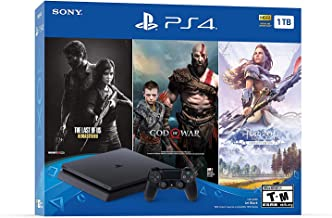 Newest Flagship Sony Play Station 4 1TB HDD Only on Playstation PS4 Console Slim Bundle - Included 3X Games (The Last of U...