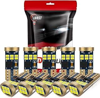 10-Pack 194 LED Bulb, LBRST Error Free T10 LED Bulb, White 6000K Super Bright 168 LED Bulb, 921 2825 W5W LED Replacement B...