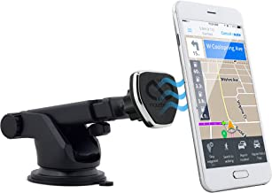 Naztech MagBuddy Telescopic Car Dash Phone Mount. Fully Adjustable Holder, Hands-free Phone Calls and GPS Use, Compatible for iPhone X/8/8 Plus, Samsung Galaxy S9/S9+,Note8, Smartphones & More (Black)